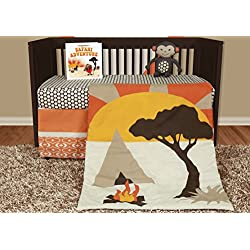 Snuggleberry Baby African Dream 5 Piece Crib Bedding Set with Storybook
