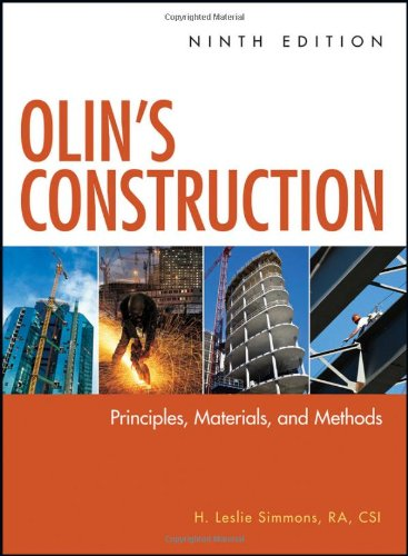Olin's Construction: Principles, Materials and Methods - 8th Edition - Hard-cover - Wiley - 0470547405 - ISBN: 0470547405 - ISBN-13: 9780470547403