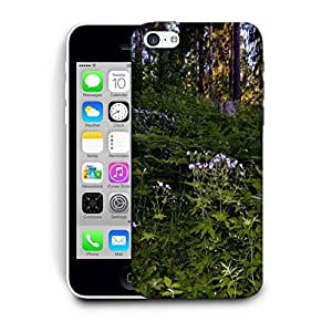 Snoogg Green And Purple Plants Printed Protective Phone Back Case Cover For Apple Iphone 6+ / 6 Plus