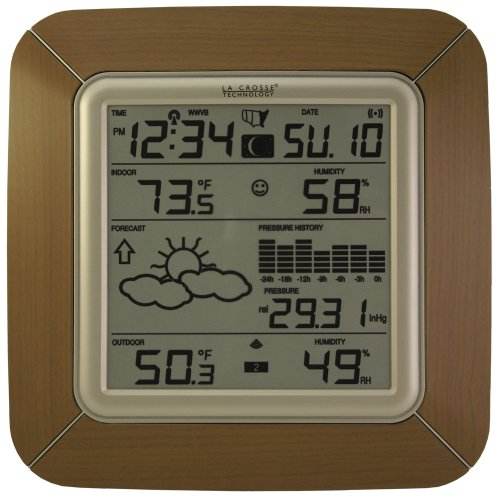 La Crosse Technology Ws-9057U-It Forecast Station With Barometer, Temperature, Humidity And Moon Phase, Alarm front-1068513