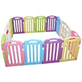 Baby Playpen Kids 14 Panel Safety Play Center Yard Home Indoor Outdoor Pen