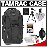 Tamrac 5786 Evolution 6 Photo Digital SLR Camera Sling Backpack (Black) with Tripod + Canon Cleaning Kit for Canon EOS 70D, 6D, 5D Mark III, Rebel T3, T5i, SL1