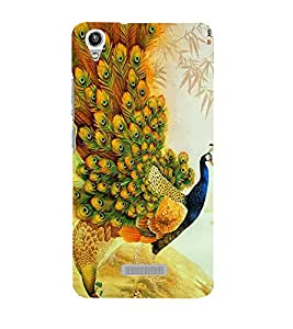 Vizagbeats peacocks Back Case Cover for Lava Pixel V1