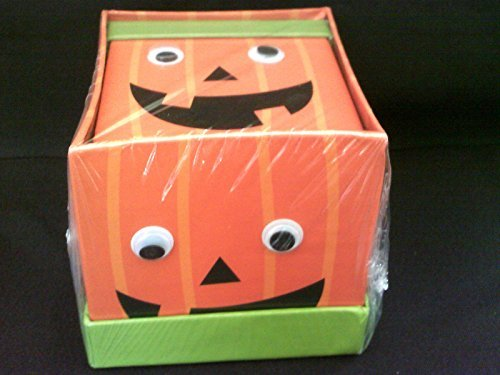 Halloween 2 Pumpkin Treat Boxes with Moving Eyes