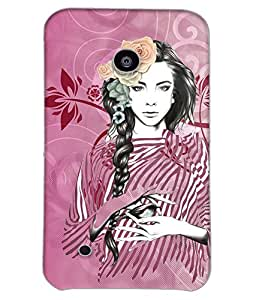 Fuson Peaceful Girl Back Case Cover for NOKIA LUMIA 530 - D3936
