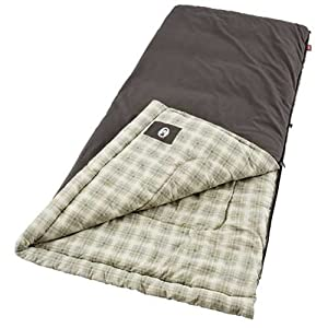 Coleman Heritage Big and Tall Sleeping Bag (Brown)