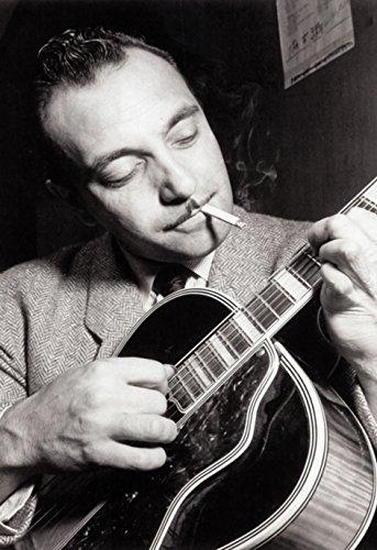 Django Reinhardt Poster, Smoking & Playing Guitar, Jazz Pioneer, Gypsy Guitarist (Virtuoso Playing compare prices)