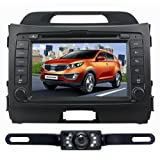 For KIA Sportage  Year 2010 2011 2012 Windows CE6 0 Operating System Bluetooth Ipod function Fm Am Radio Stereo  Free Map  Rear Camera Infrared LED Digital Touch Screen DVD Player CD8974R