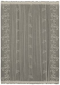 Heritage Lace Sheer Divine Door Panel, 42 by 63-Inch, White