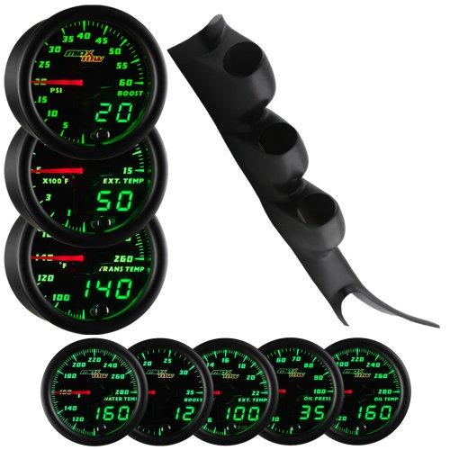 Maxtow 00-06 Chevy Silverado Duramax Diesel Gauge Package Black Face Boost, Egt & Trans Temp