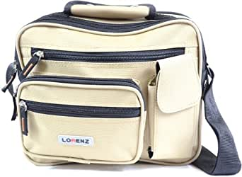 Canvas Style Multi-Functional Shoulder Bag / Cross Body Flight Work Travel Bag ( Khaki )
