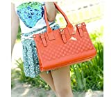 Womens Ladies Designer Leather Style Tote Bag Smile Satchel Shoulder...