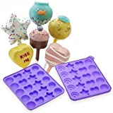 NY Cake Assorted Shapes Silicone Cake Pop Mold (Color may Vary)