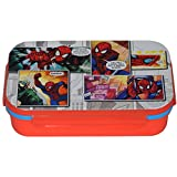 Marvel Spiderman Plastic Lunch Box Set, 600ml, Set Of 4, Red/Blue