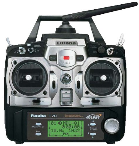 Futaba 7C 7-Channel 2.4GHz FASST Airplane Radio System FUTK7004