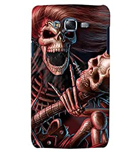 Printvisa Premium Back Cover Skeleton Playing A Scary Guitar Design For Samsung Galaxy J7::Samsung Galaxy J7 J700F