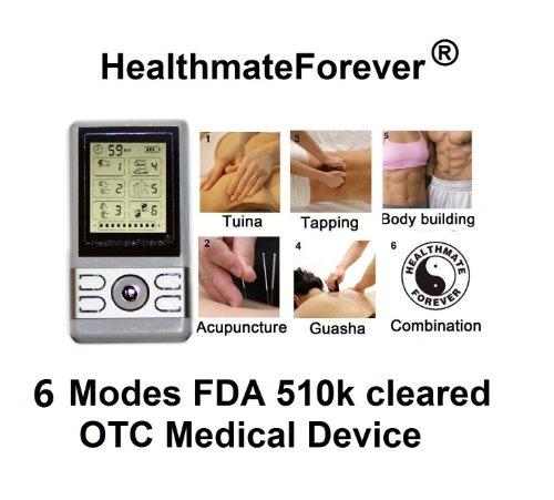 Healthmateforever Brand Massager Machine, Lifetime Warranty, 6 Modes, Mini Micro Palm Digital Massager Healthmate Forever Bm6G Silver
