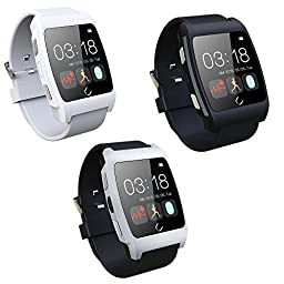 BAB® UX Smart Watch with Heart Rate Monitor for Apple iphone 4/4S/5/5C/5S Samsung S2/S3/S4/Note 2/Note 3 - Black
