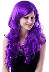 HDE Women's Full Length Wavy Curly Candy Colored Cosplay Anime Costume Wig