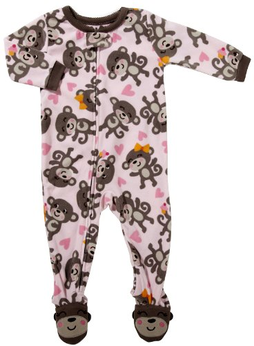Carter'S Footed Blanket Sleeper - Happy Monkeys-Pink-2T front-1020260