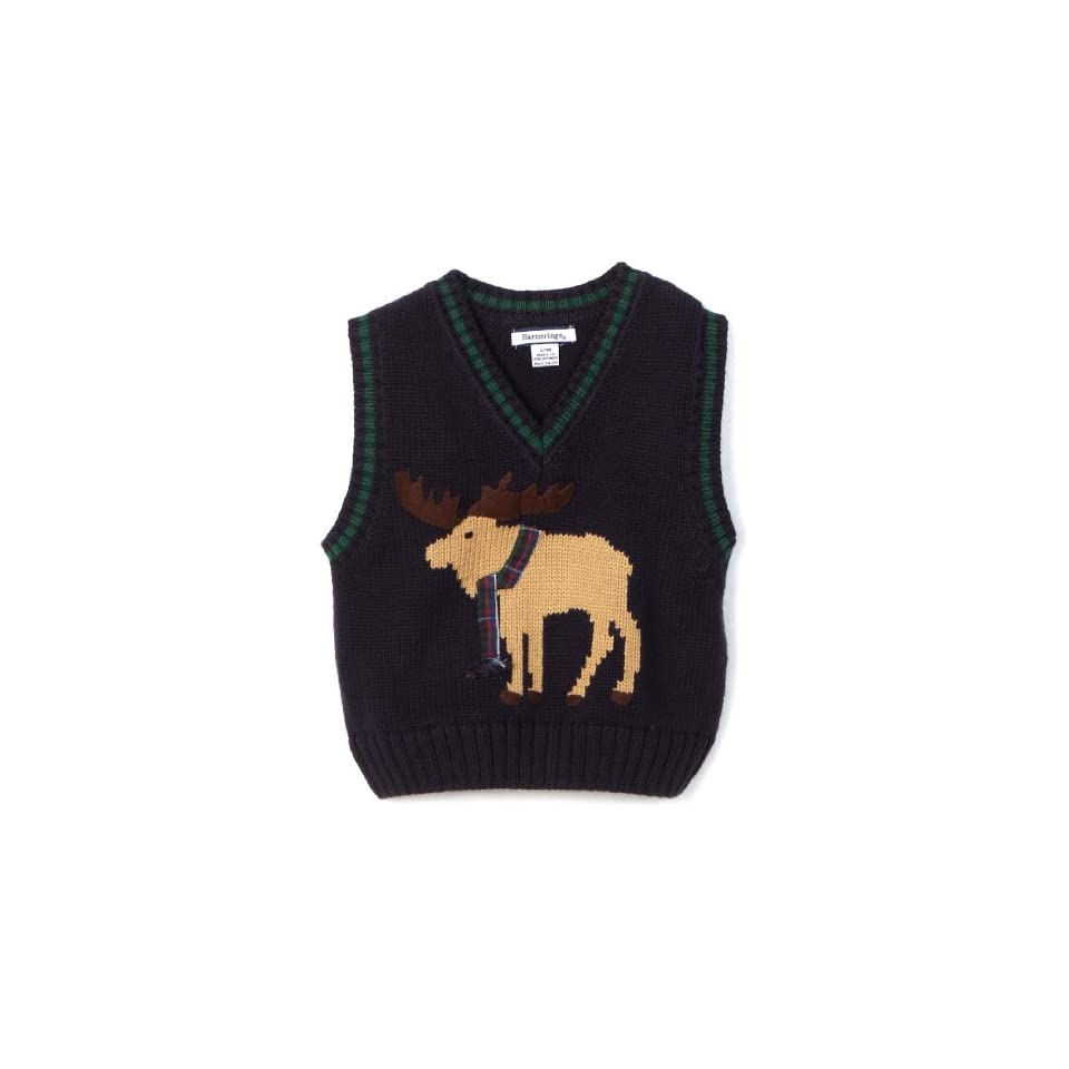 a878fa308 Hartstrings Baby Boys Moose Sweater Vest