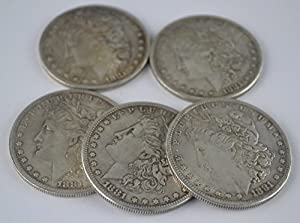 1.5 inch Antique Steel Morgan Dollar Magic Trick Coins, Coins Magic accessory, Coin magic