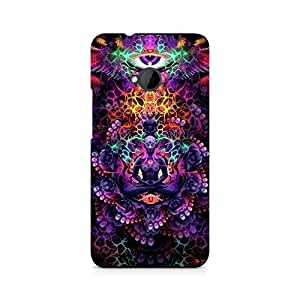 Motivatebox- psychedelic buddha Premium Printed Case For HTC One M7 -Matte Polycarbonate 3D Hard case Mobile Cell Phone Protective BACK CASE COVER. Hard Shockproof Scratch-