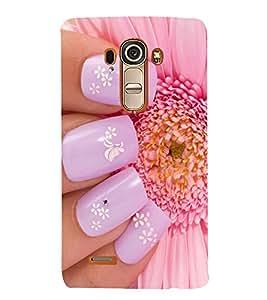 printtech Girl Cute Nail Paint Back Case Cover for LG G4 / LG G4 H815 / LG H812
