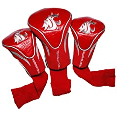 Buy NCAA Washington State Cougars 3 Pack Contour Golf Club Headcover by Team Golf