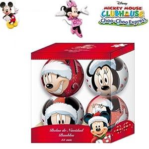 4 weihnachtskugeln disney mickey maus 55mm for Disney weihnachtskugeln