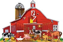 Melissa and Doug Farm Friends 32 pc Floor Puzzle :  toys puzzle farm floor puzzle melissa and doug kids children
