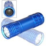 Neiko Super-Bright 9 LED Heavy-Duty Compact Aluminum Flashlight - Cool Blue Color