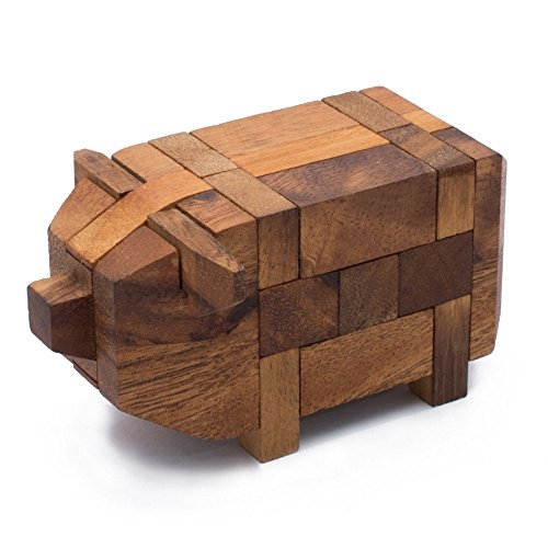 AmaWood Kumiki Pig Wooden Puzzle (How To Make A Cat Costume For Adults)