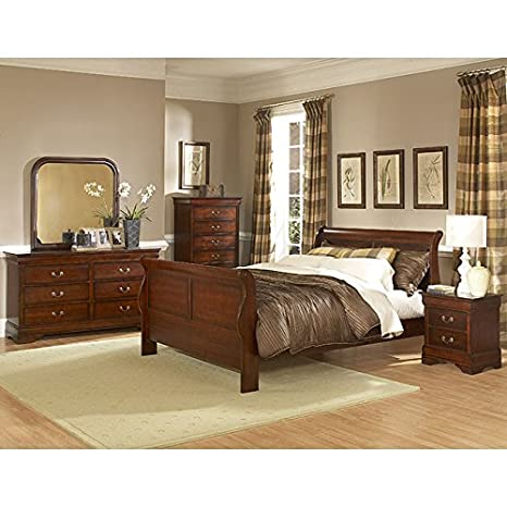 Chateau Brown Sleigh Bedroom Set Queen