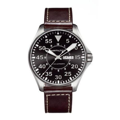 Hamilton Khaki Pilot Automatic Black Dial Men's Watch - H64715535