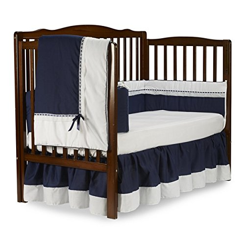 Baby Doll Royal Crib Bedding Set, Navy