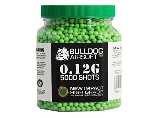 bulldog-012g-impact-grune-pellets-5000er-flasche-hochwertige-waffenkugeln-softair-munition