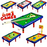Childrens Tabletop 6 in 1 Pool Snooker Golf Picture