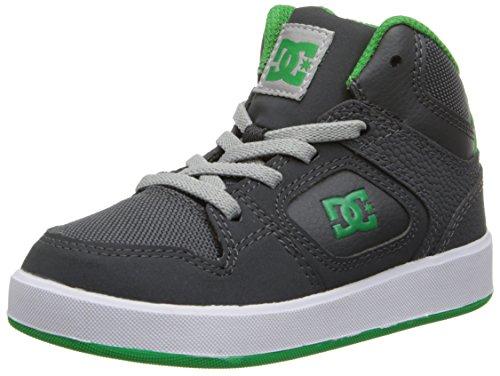Dc Union High Skate Shoe (Toddler/Little Kid/Big Kid),Grey/Green,10 M Us Toddler front-933169