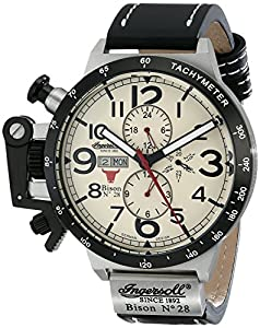 """Ingersoll Men's IN1607CR """"Bison Number 28"""" Stainless Steel Automatic Watch with Leather Band"""