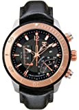 TX Men's T3C308 800 Series Linear Chronograph Dual-Time Zone Watch