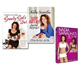 Nadia Sawalha Greedy Girl's Diet 2 Books With DVD Collection Set by Nadia Sawalha. (Eat yourself slim with gorgeous, guilt-free food, Second Helpings! Fab Food Fast for a Slim Life & Fat to Fab [DVD]