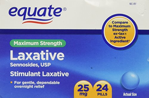 Equate - Laxative, Maximum Strength, Sennosides 25 mg, 24 Pi