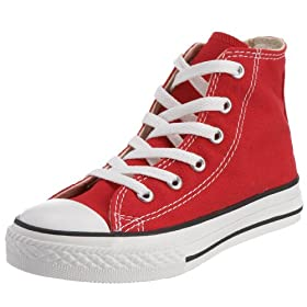 Converse Unisex Child Tod/Yth Chuck Taylor All Star Hi Top - Red - 11 TOD