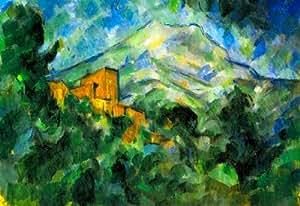 (11x17) Paul Cezanne St. Victoire and Chateau Noir Art Print Poster