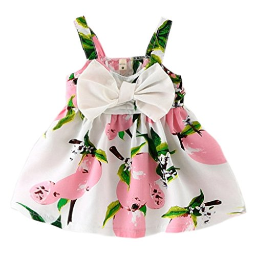 YOMIYOKA Baby Girls 6 Months - 3 Years Princess Dress (6 Months, Pink)