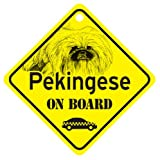 KC Creations Pekingese On Board Dog Sign Gift