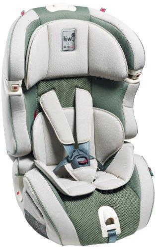 Kiwy 14103KW05B SLF23 Q-Fix - Seggiolino auto per bambini, gruppi 1/2/3 (9-36 kg) con adattatore Q-Fix per Isofix, certificato ECE, colore: Verde aloe