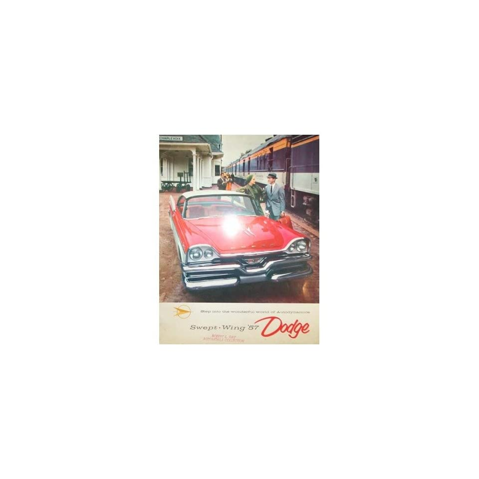 1957 Dodge Swept Wing Sales Brochure Literature Book Advertisement Options Specs