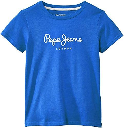 Pepe Jeans Jungen T-Shirt, ART, GR. 176 (Herstellergröße: 16 ans), Blau (French Blue)